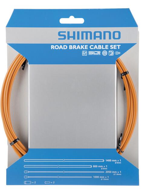 Shimano Road Bromsvajer PFTE behandlad orange
